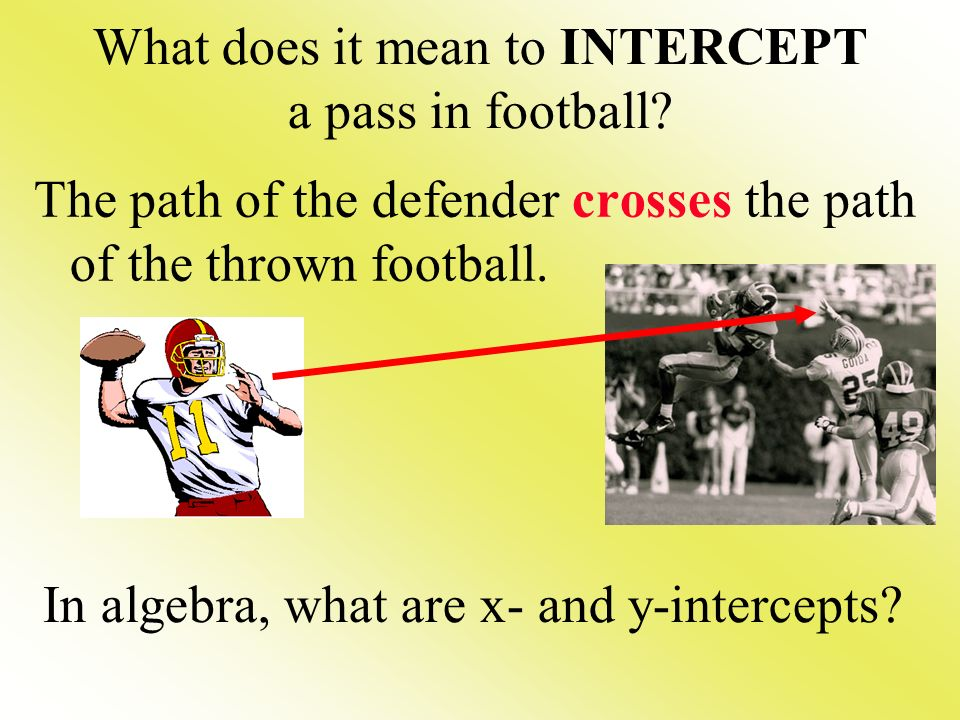 What does it mean to INTERCEPT a pass in football