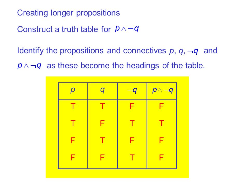 Creating longer propositions