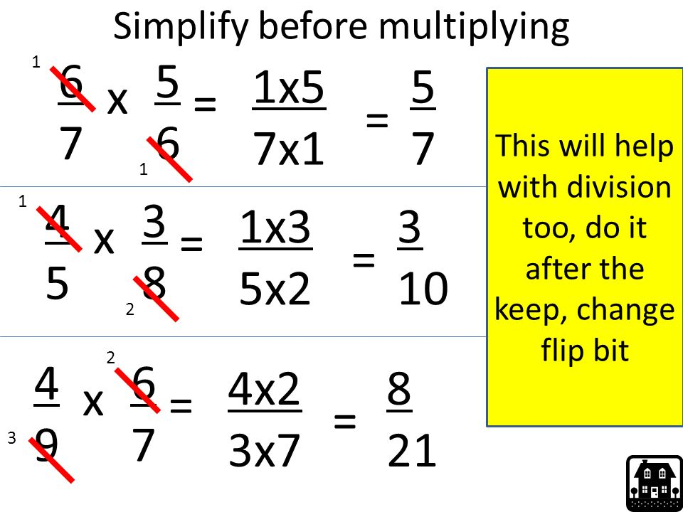 Simplify before multiplying  sc 1 st  SlidePlayer & Fraction Revision. - ppt video online download
