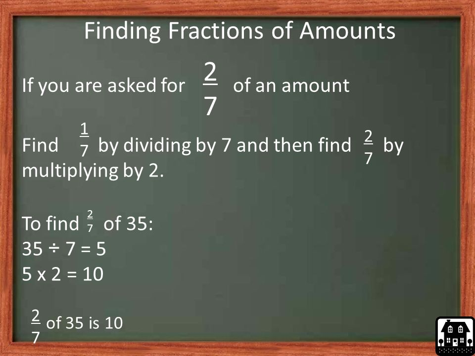 Finding Fractions of Amounts