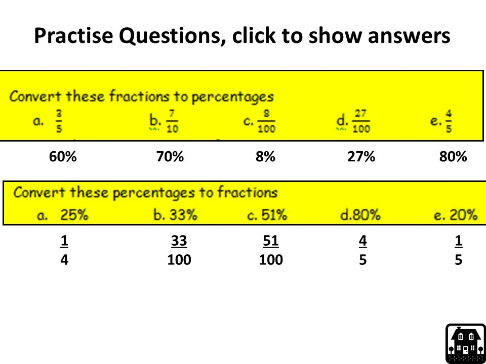 Practise Questions, click to show answers