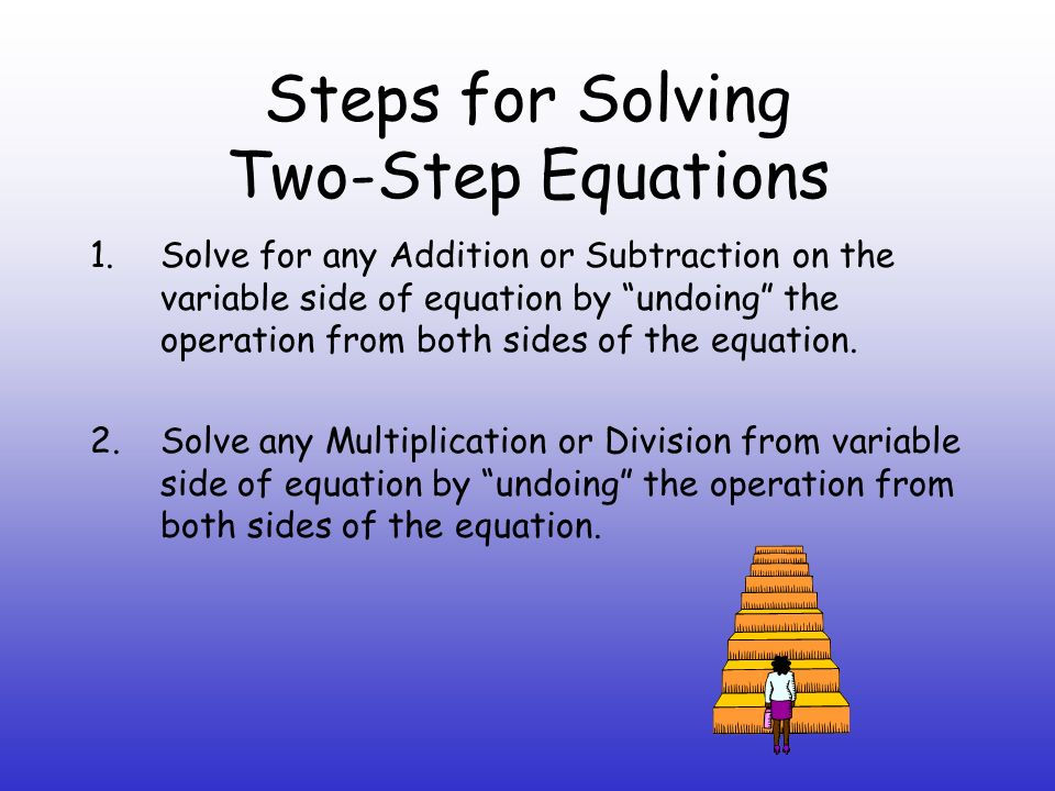 Steps for Solving Two-Step Equations