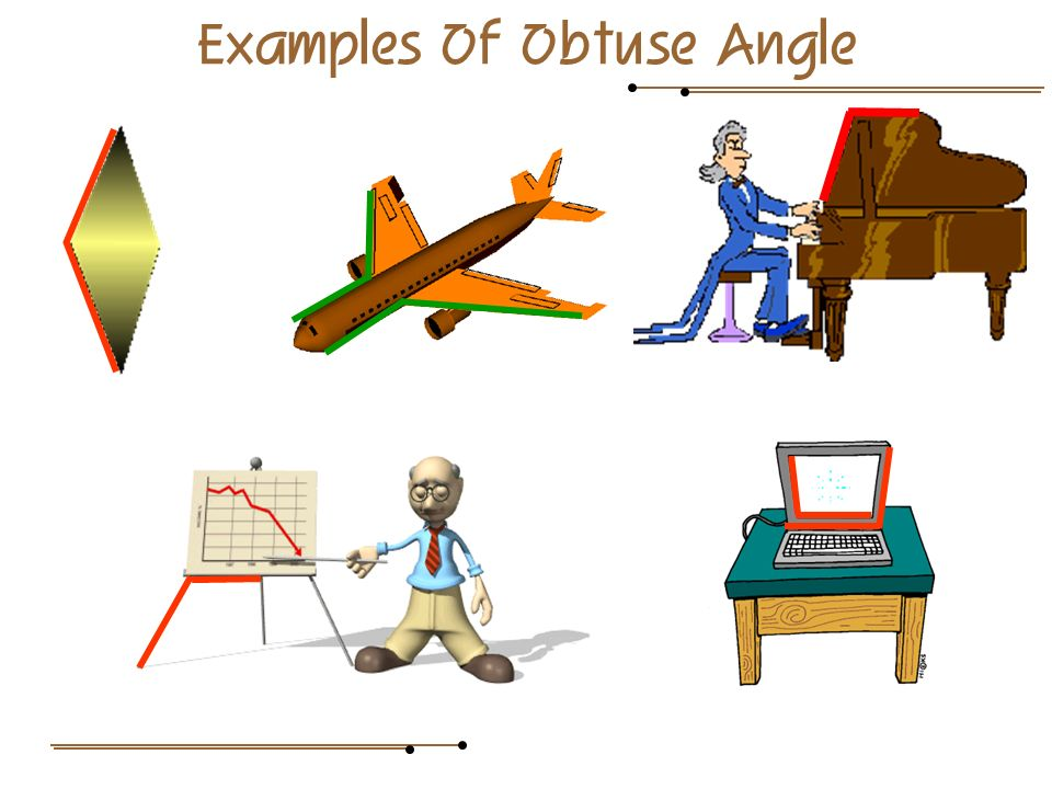 Examples Of Obtuse Angle