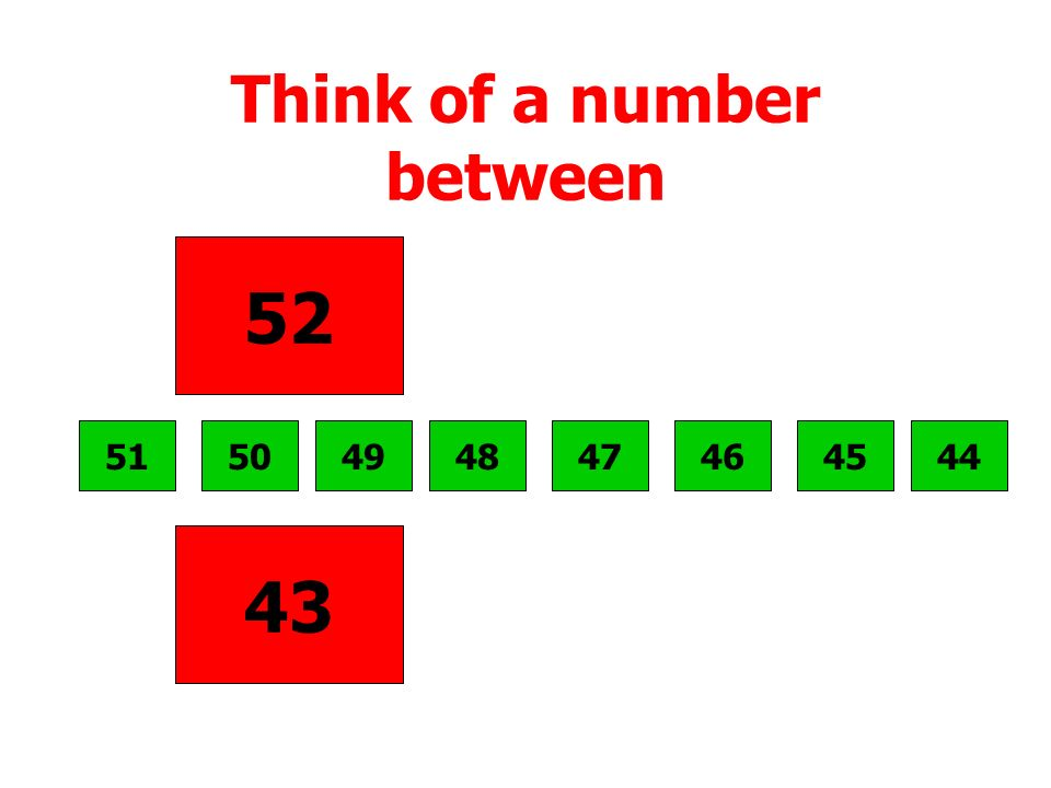Think of a number between