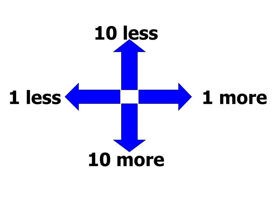 10 less 1 less 1 more 10 more