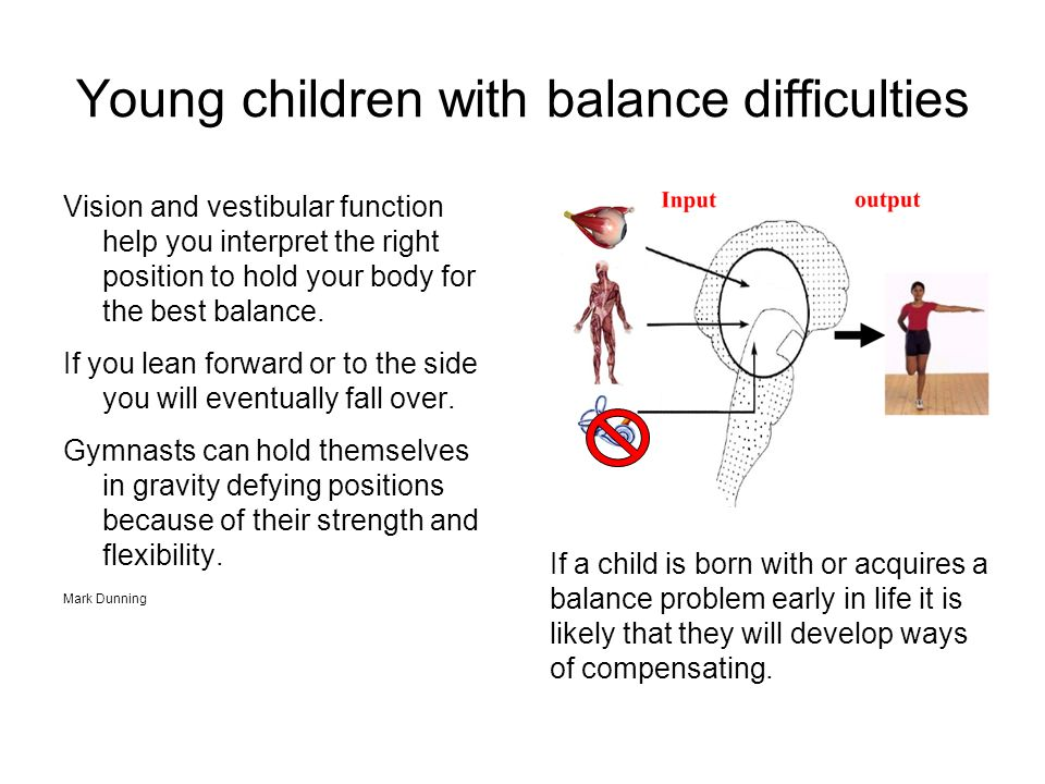 Young children with balance difficulties