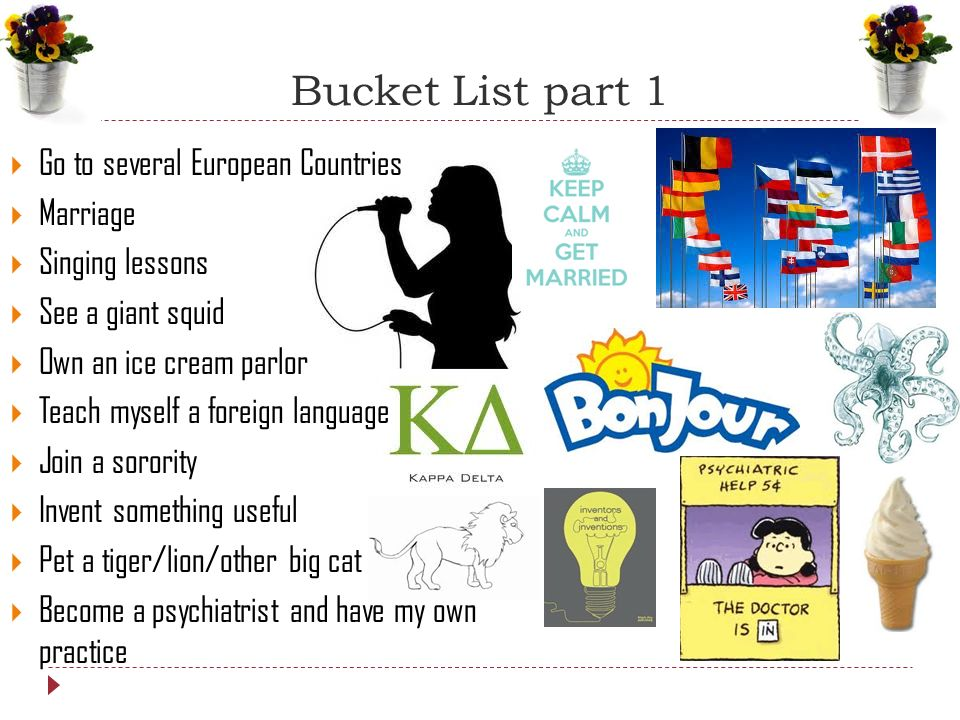 the bucket list 2 essay Bucket list essay examples 1 total result my bucket list before i die of cancer 1,281 words 3 pages company contact resources terms of.