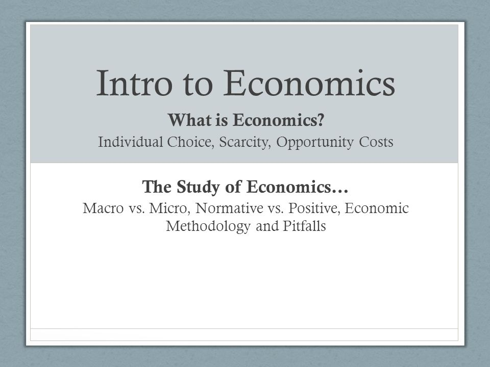 A study on economics and scarcity