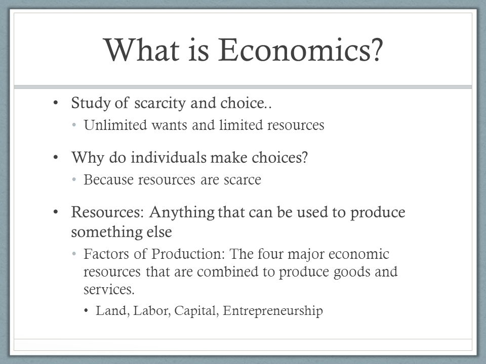What Is the Importance of Economics?