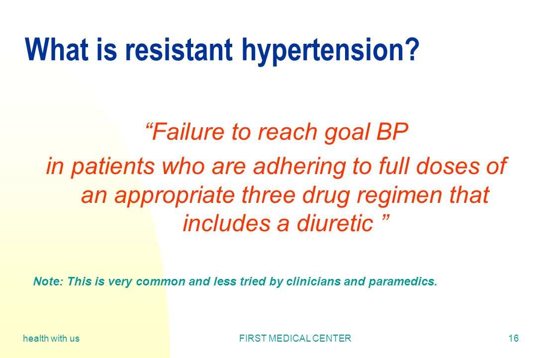 What is resistant hypertension