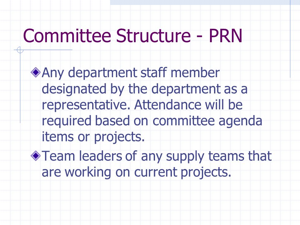 Committee Structure - PRN