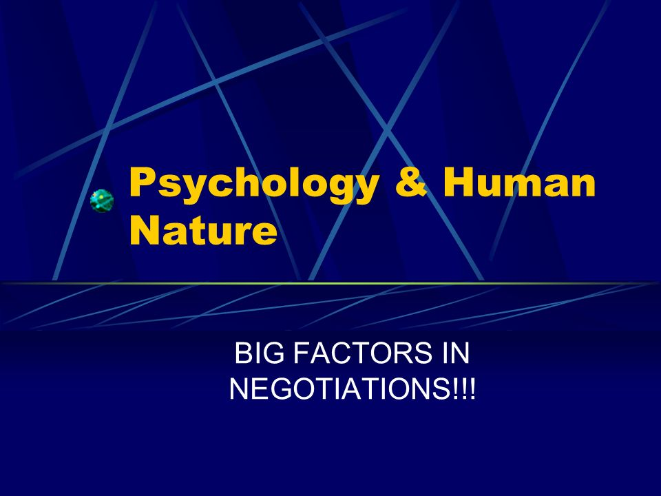 Psychology & Human Nature