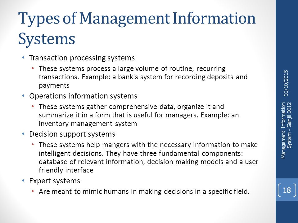 Management information system at ongc