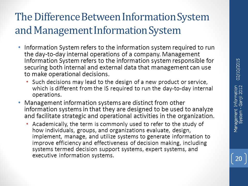 different between expert system and decision support system While both types seek to improve the quality of the decision, there are some  distinct differences between the two to understand and distinguish them, dss  and.