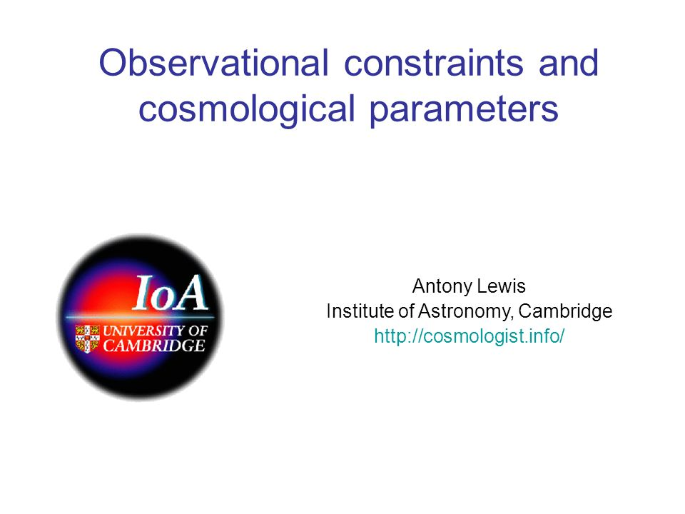 Observational constraints and cosmological parameters