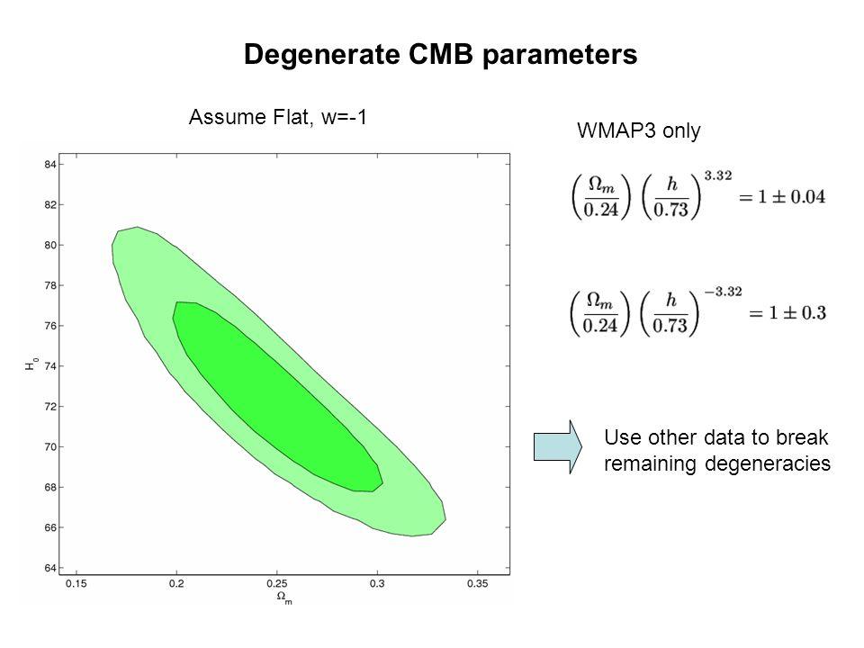 Degenerate CMB parameters
