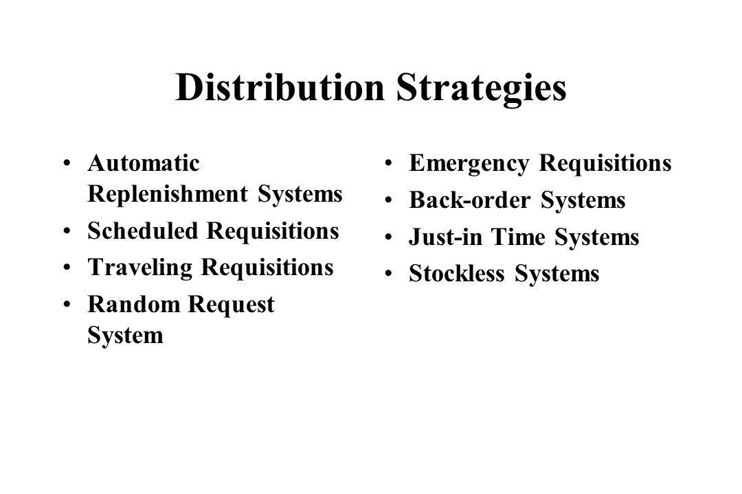 Distribution Strategies