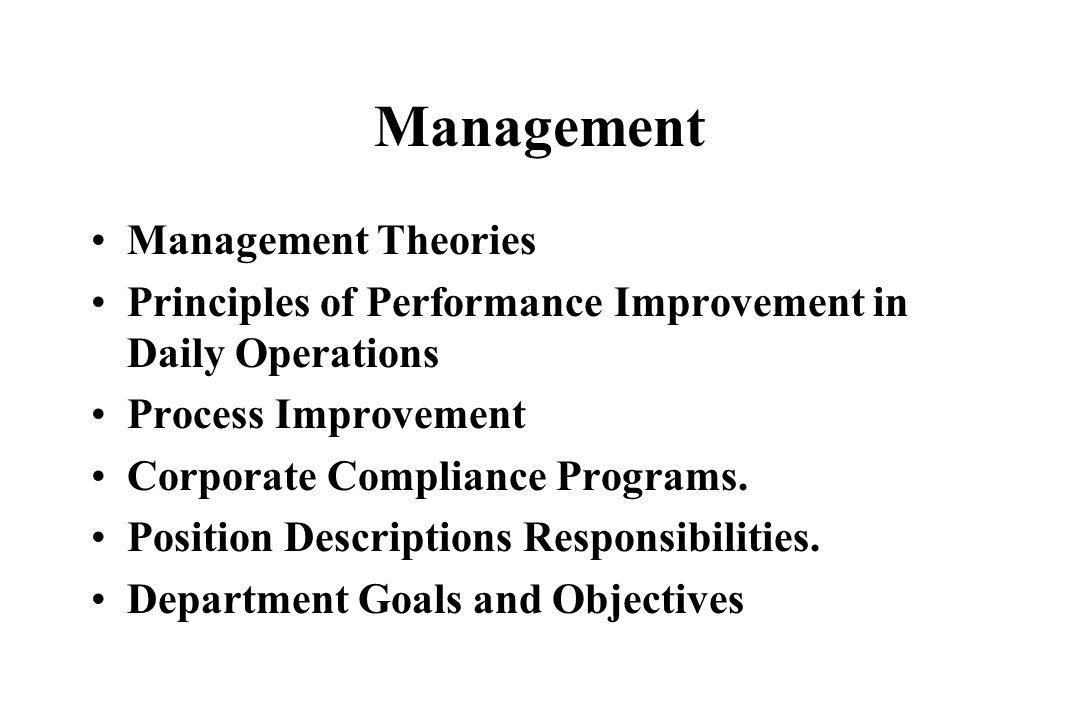 Management Management Theories