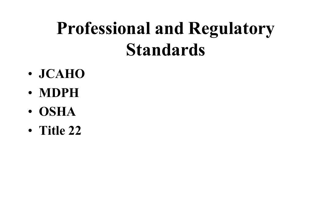 Professional and Regulatory Standards