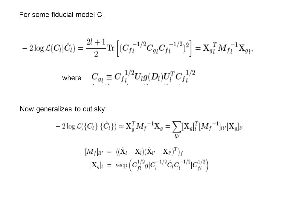 For some fiducial model Cf