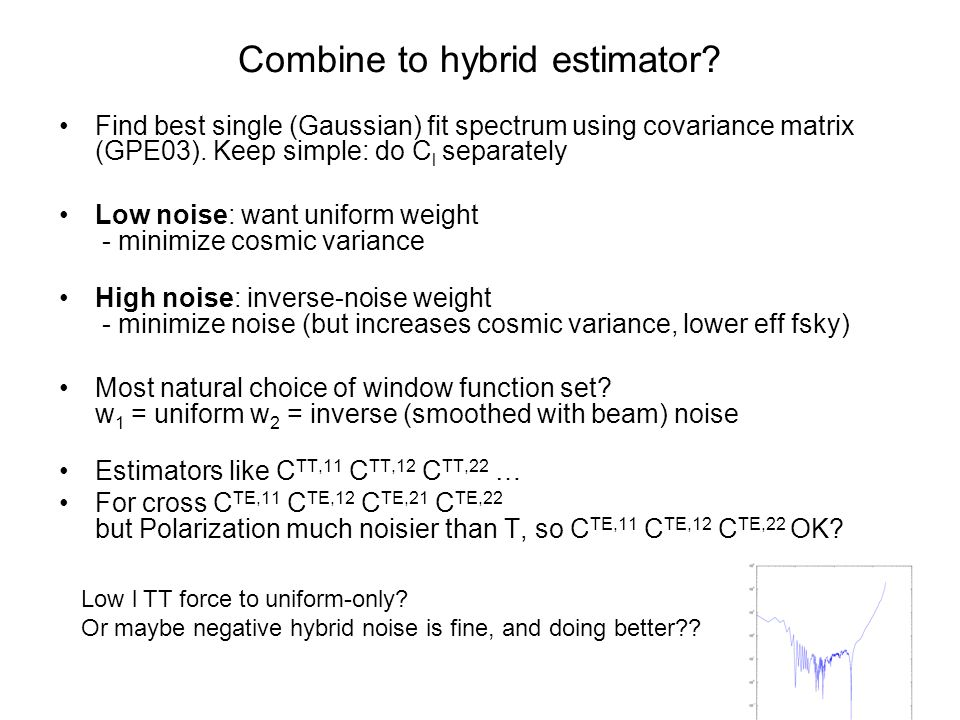 Combine to hybrid estimator