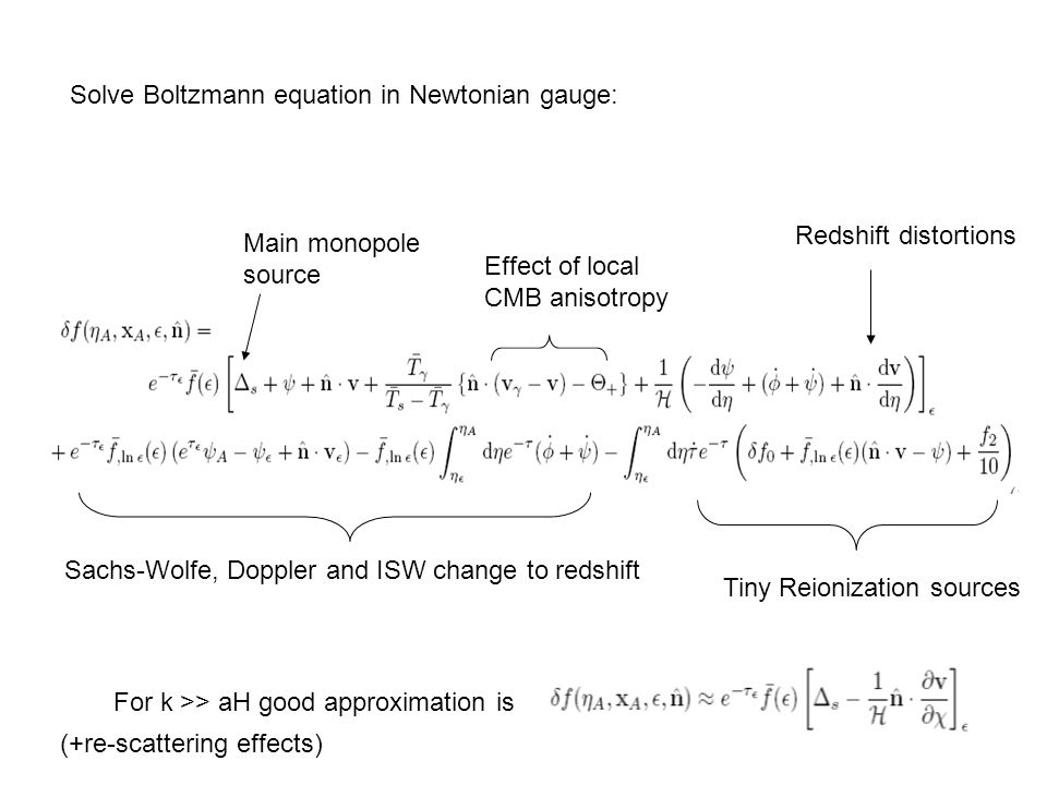 Solve Boltzmann equation in Newtonian gauge: