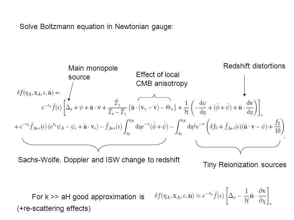 Solve Boltzmann equation in Newtonian gauge: