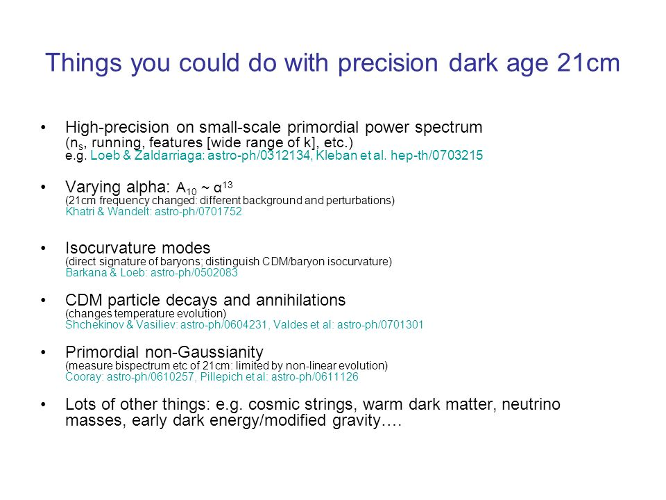 Things you could do with precision dark age 21cm