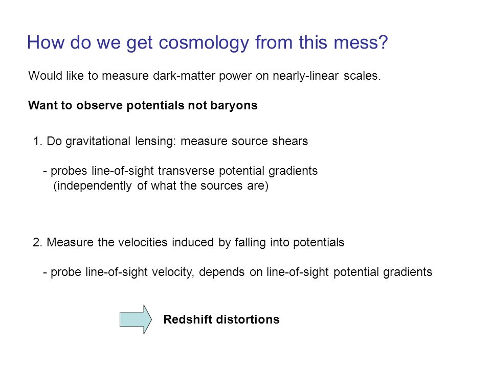 How do we get cosmology from this mess