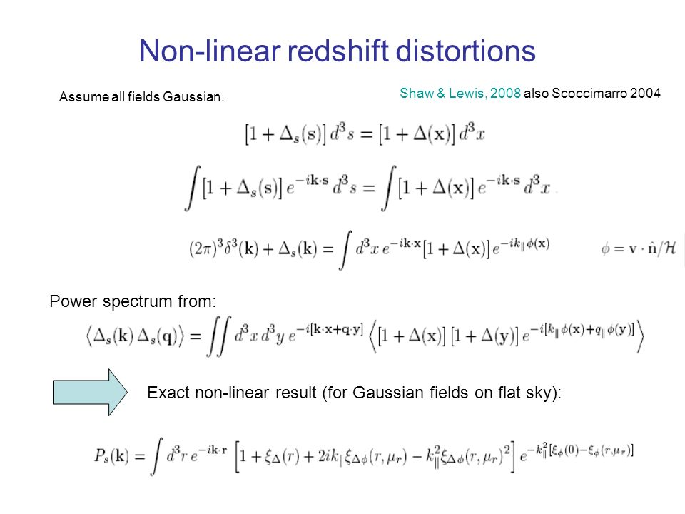 Non-linear redshift distortions