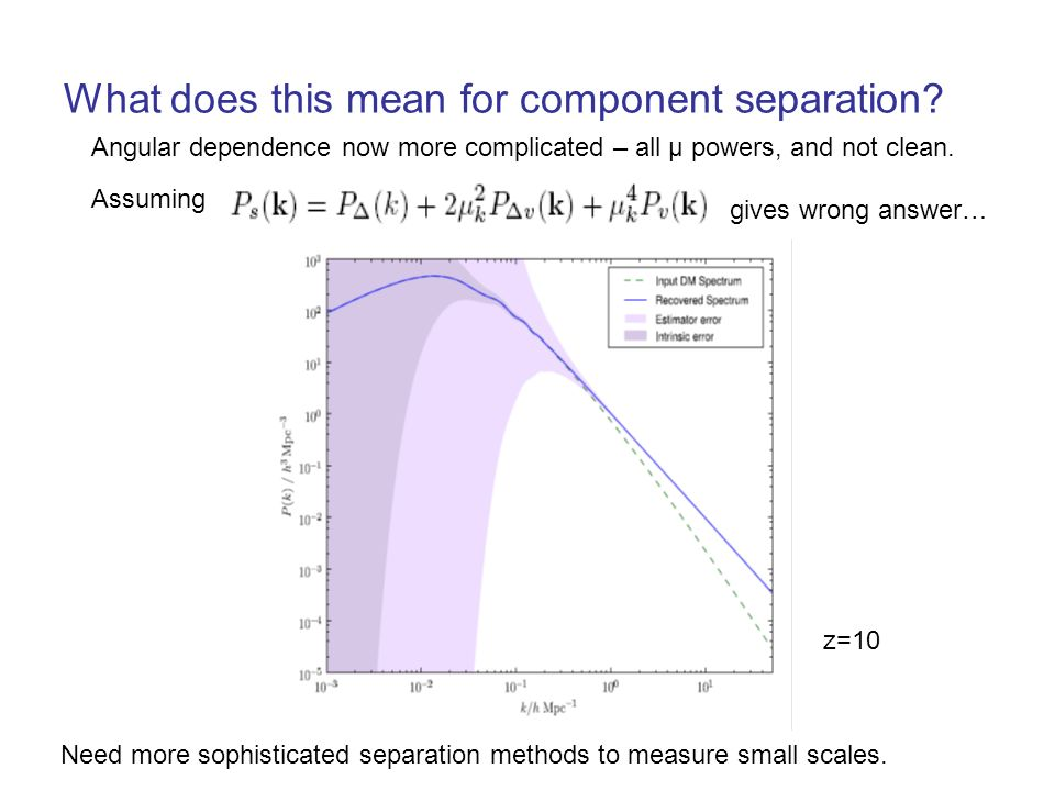 What does this mean for component separation