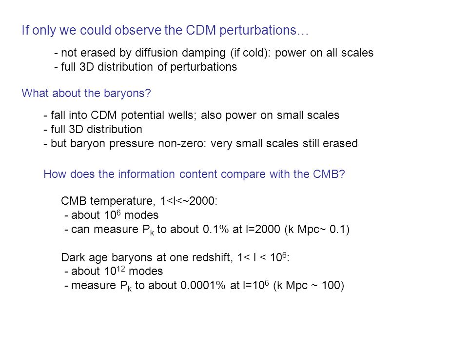 If only we could observe the CDM perturbations…