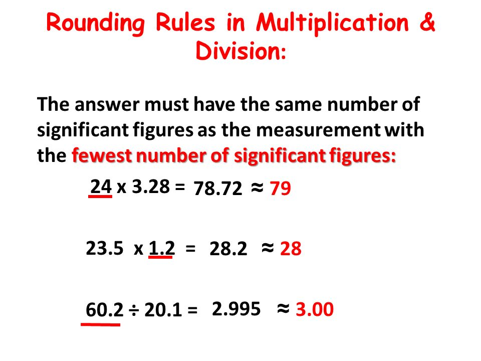 Rounding Rules in Multiplication & Division: