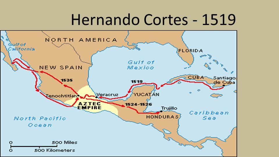 Hernan Cortes Exploration Route Map