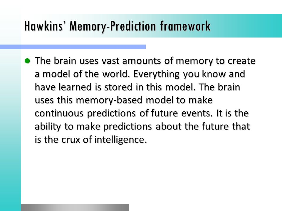 Image result for memory prediction model hawkins