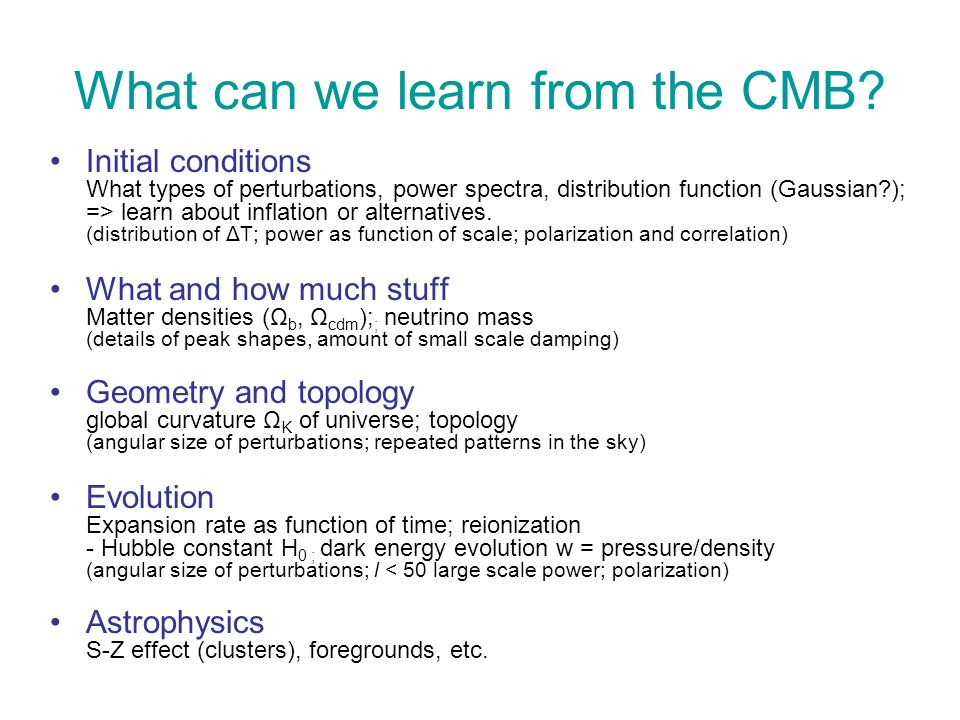 What can we learn from the CMB