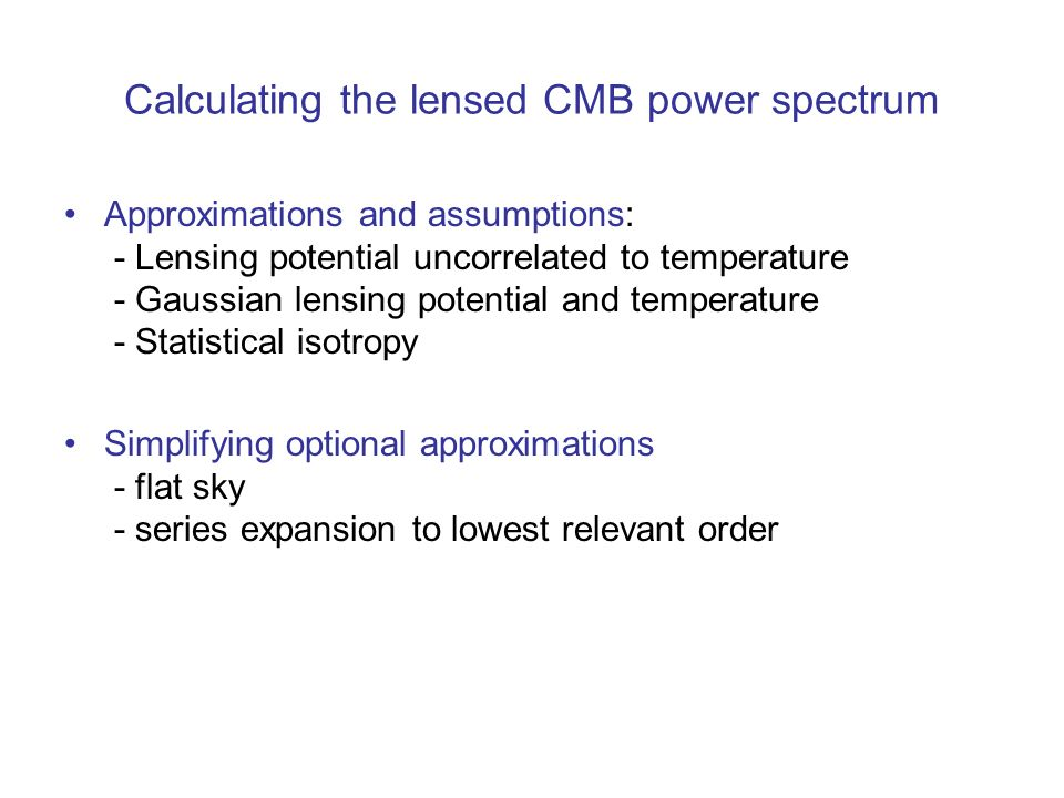 Calculating the lensed CMB power spectrum