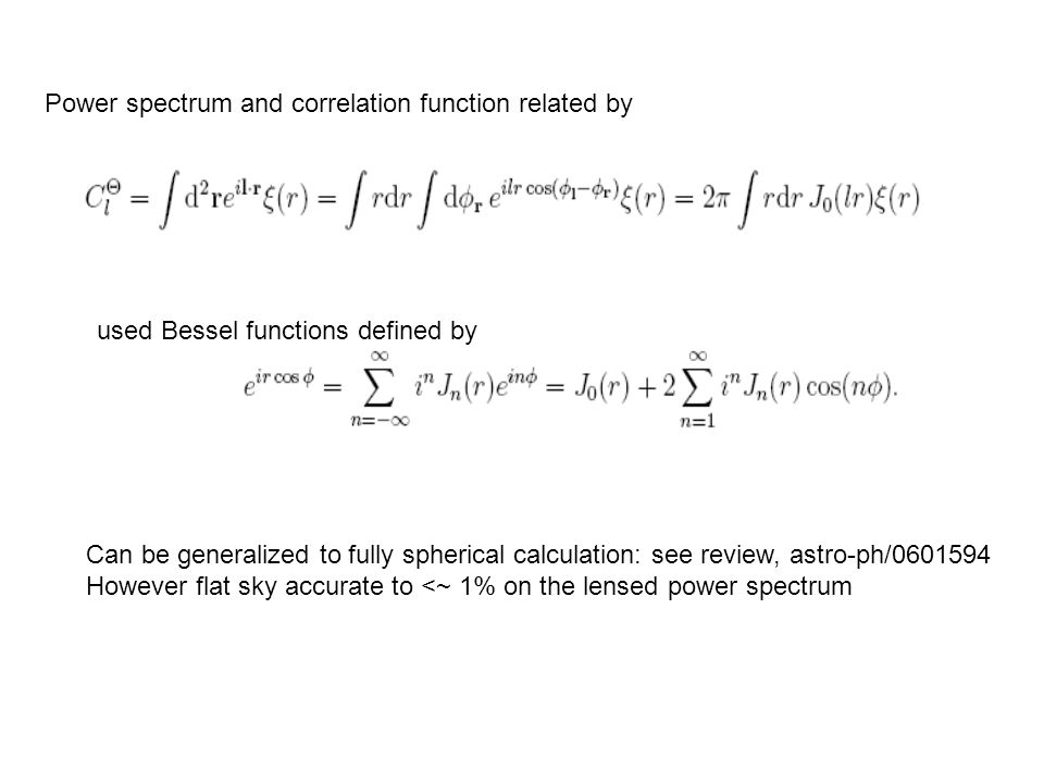 Power spectrum and correlation function related by