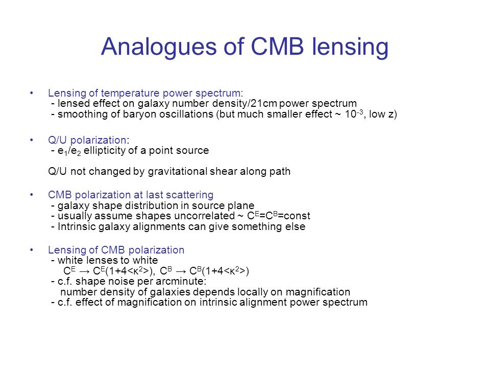 Analogues of CMB lensing