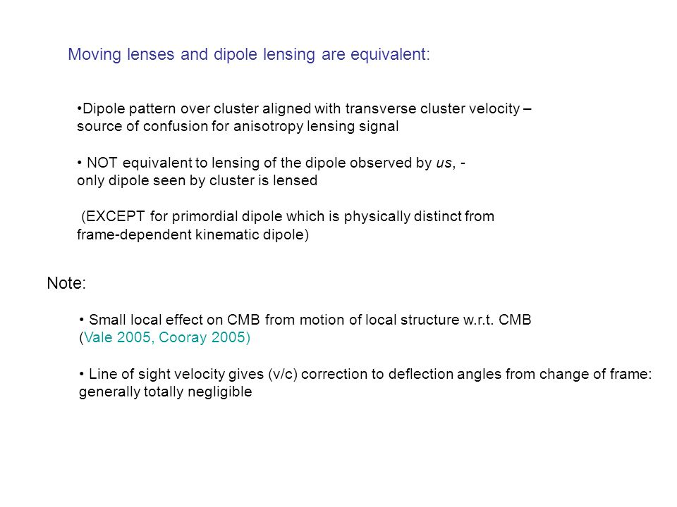 Moving lenses and dipole lensing are equivalent: