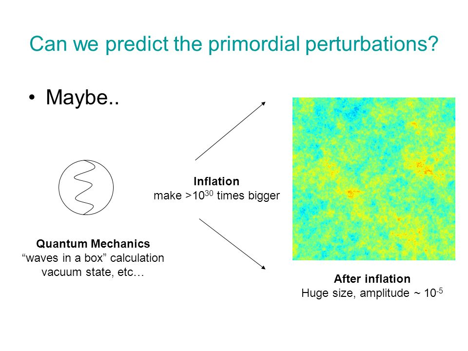 Can we predict the primordial perturbations
