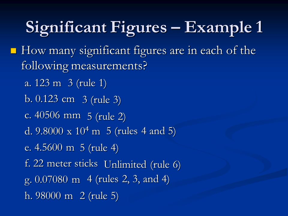 Significant Figures – Example 1