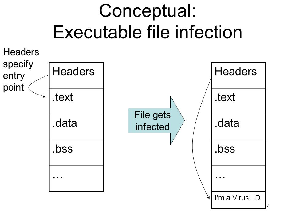 Conceptual: Executable file infection