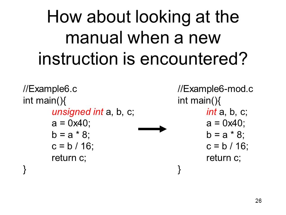 How about looking at the manual when a new instruction is encountered