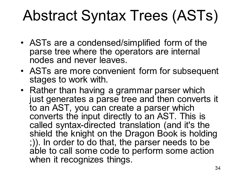 Abstract Syntax Trees (ASTs)