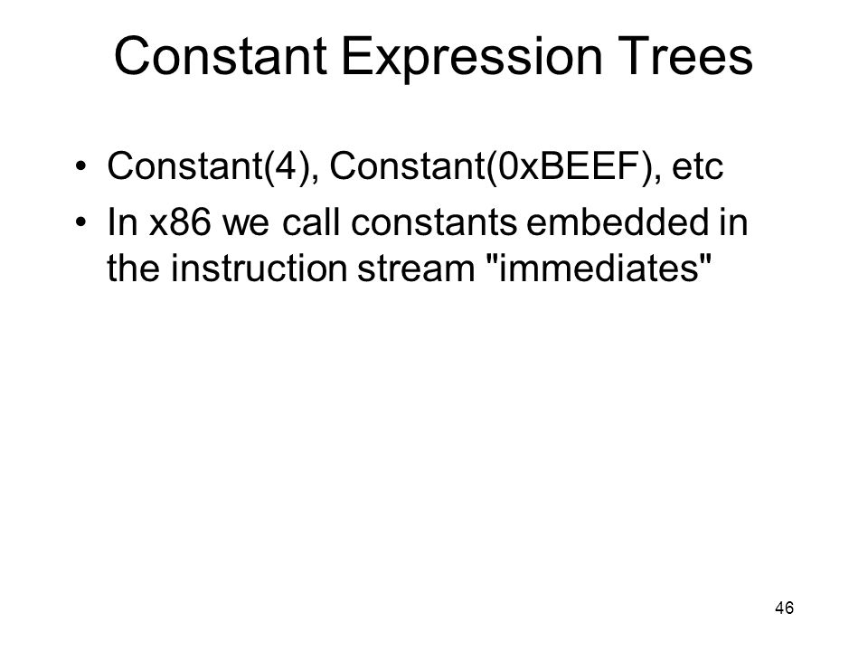 Constant Expression Trees