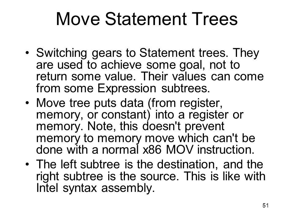 Move Statement Trees