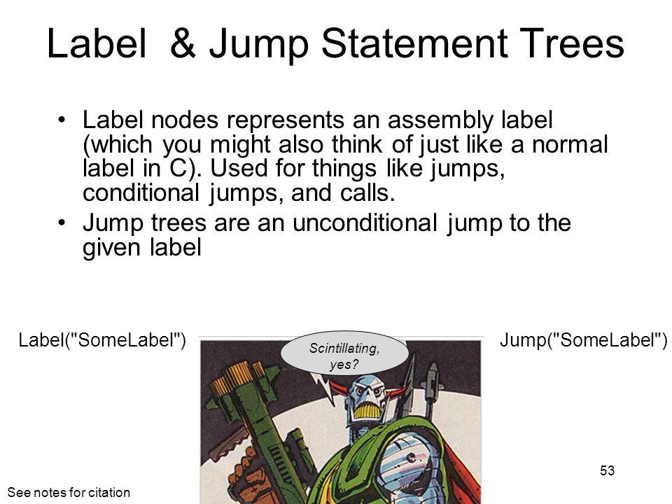 Label & Jump Statement Trees