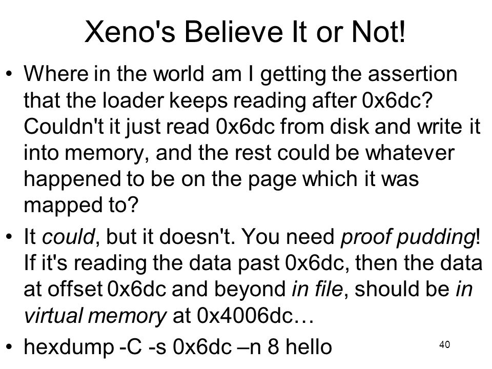 Xeno s Believe It or Not!
