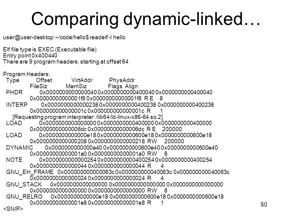 Comparing dynamic-linked…